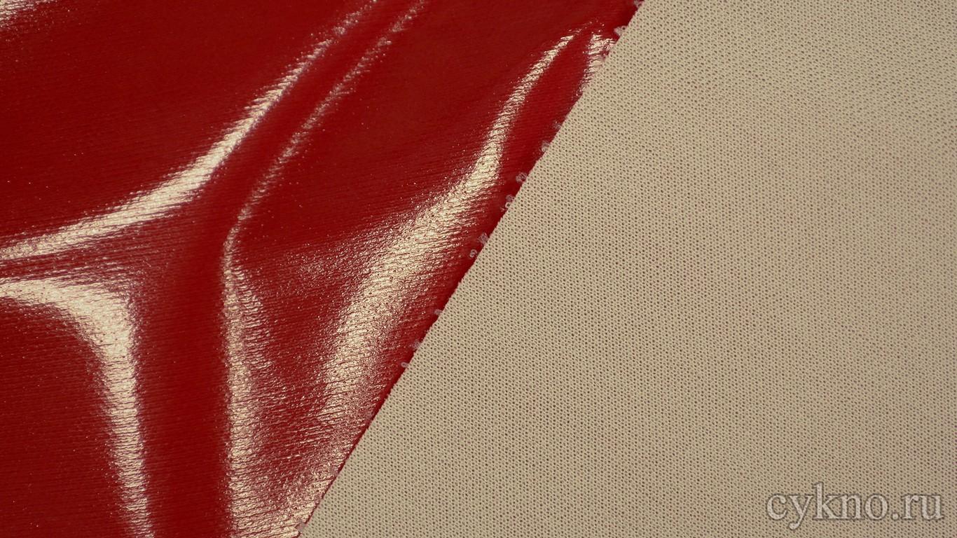 Ткань Лаке Красная
