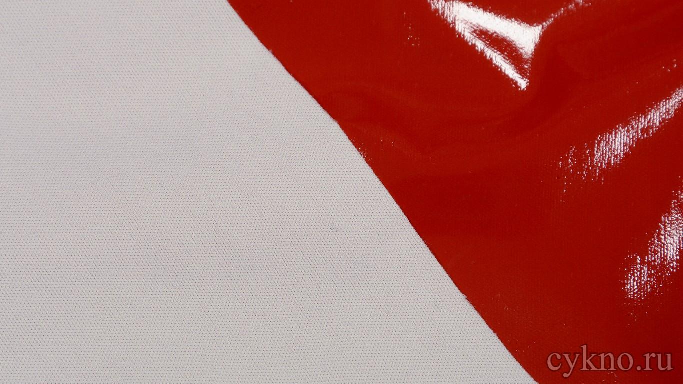 Ткань Лаке Чистый Красный