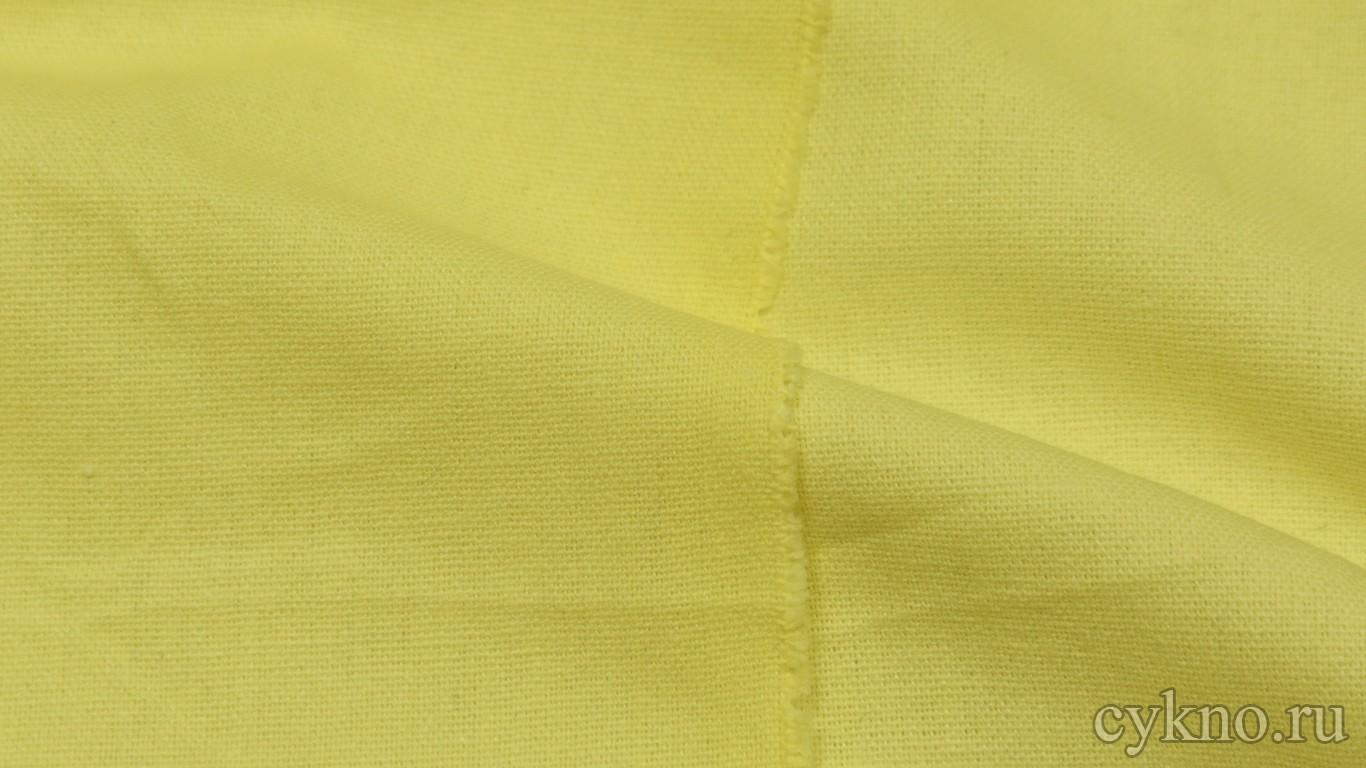 Ткань Лен лимонно-желтый
