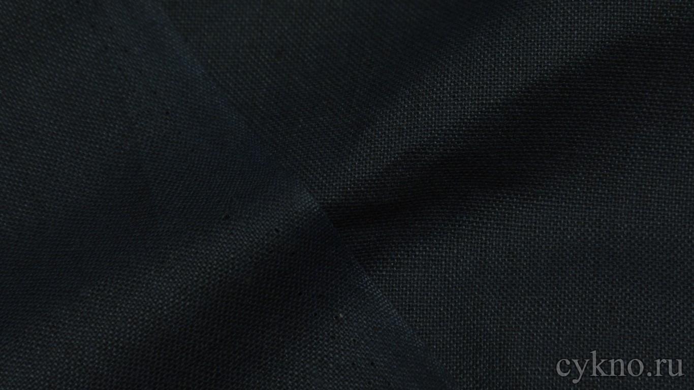Ткань Лен черновато-синий