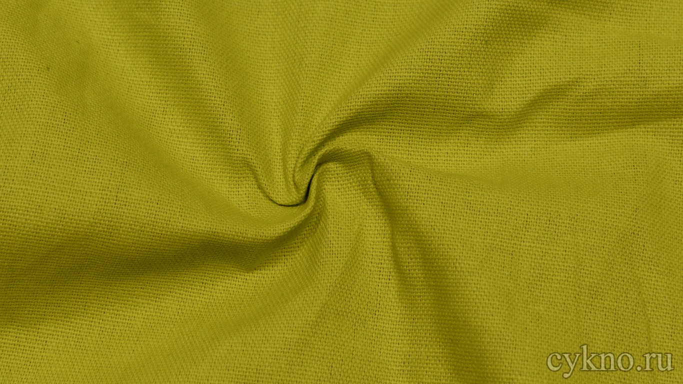"""Ткань Лен """"Жёлтый карри"""""""