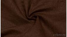 """Ткань Лен """"Темный коричневый"""""""
