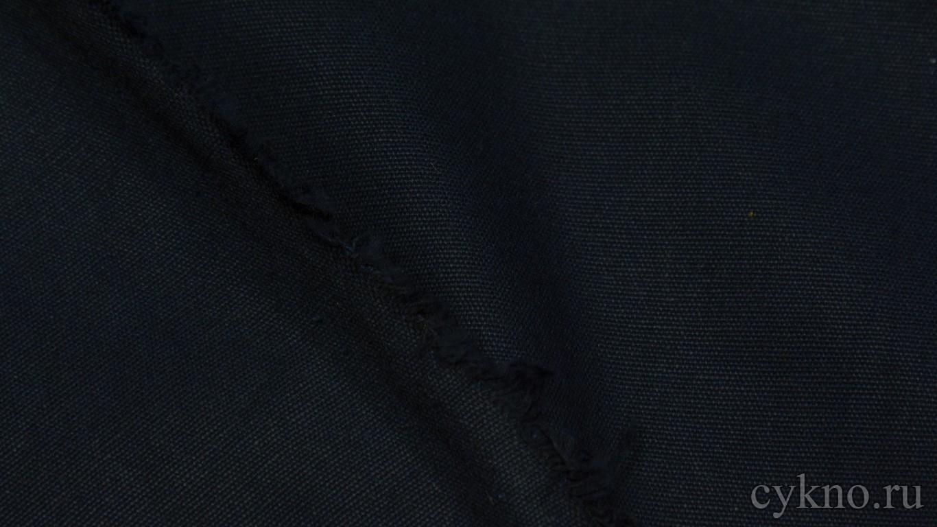 """Ткань Лен """"Черновато-синий"""""""