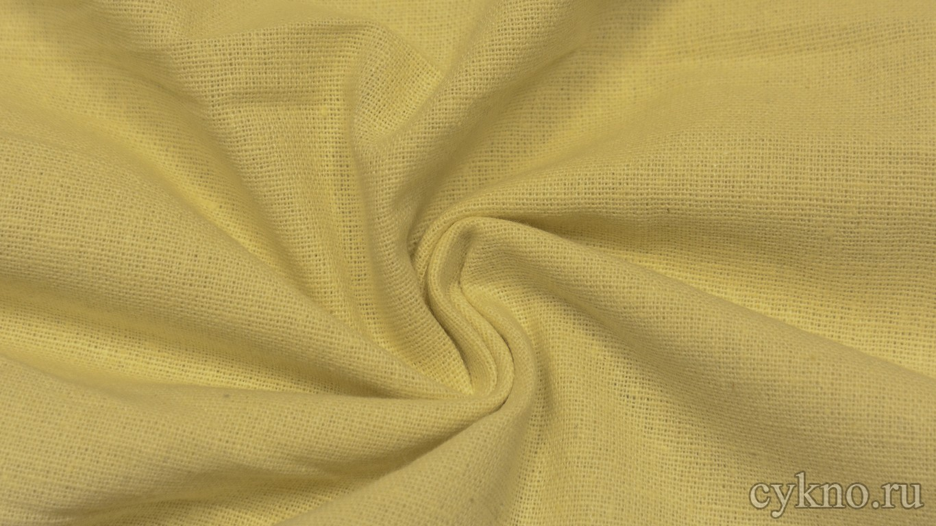 Ткань Лен песочно-желтый