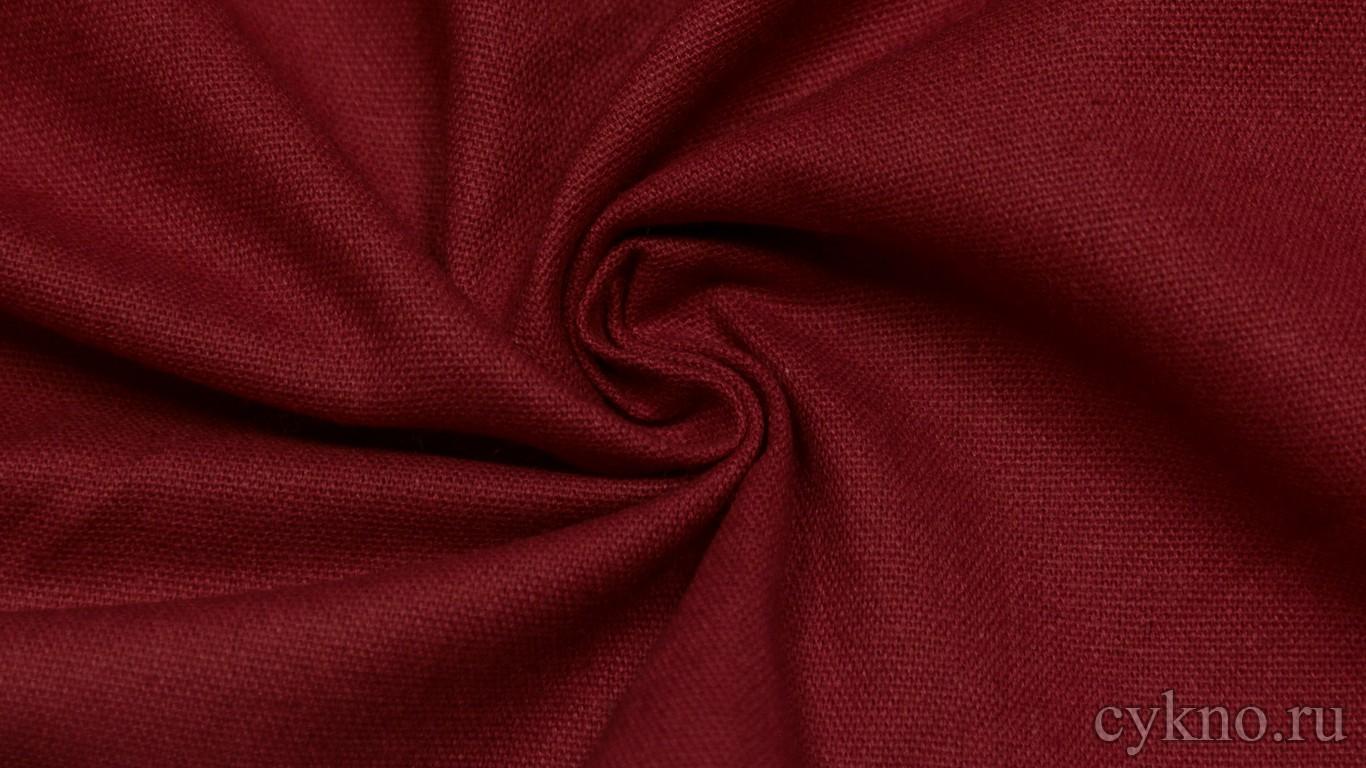 """Ткань Лен """"Тёмный красный"""""""