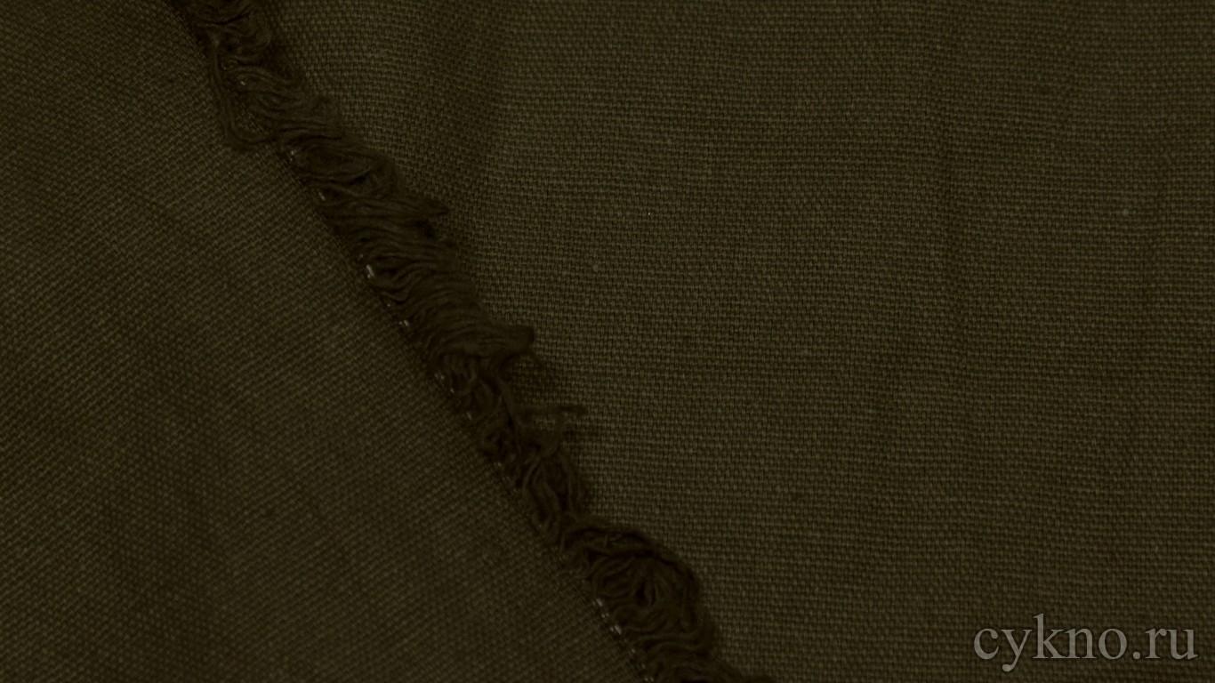 """Ткань Лен """"Сероватый оливково-зелёный"""""""