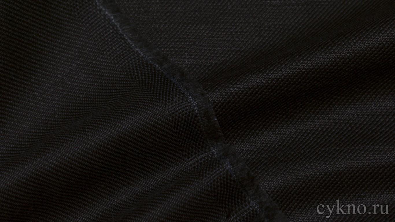 Ткань Лен графитно-чёрный
