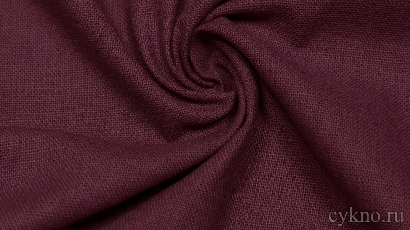 Ткань Лен пурпурно-фиолетовый