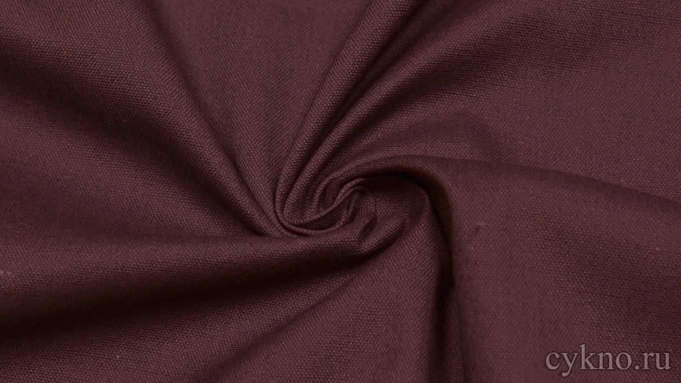 Ткань Лен винно-красный
