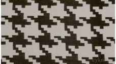 Ткань Пальтовая гусиная лапка бело-коричневая