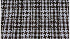 Ткань Пальтовая звезды черно-белые с люрексом