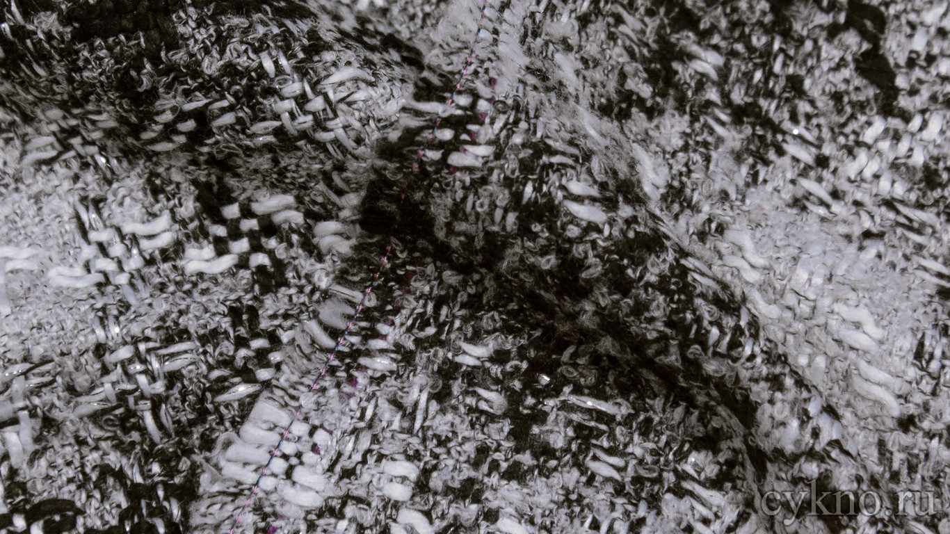 Ткань Пальтовая черно-белая