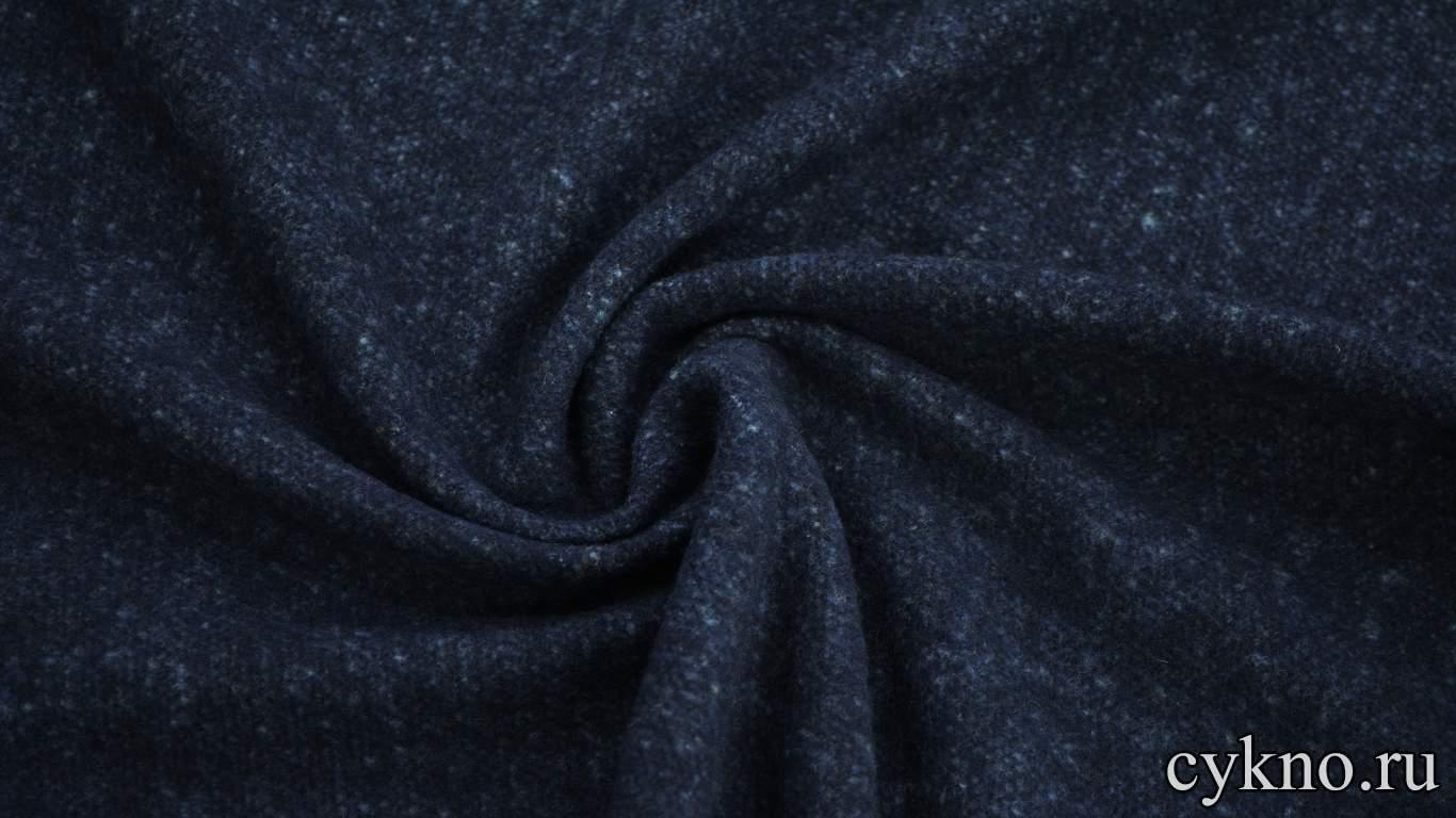 Пальтовая шерсть синий меланж