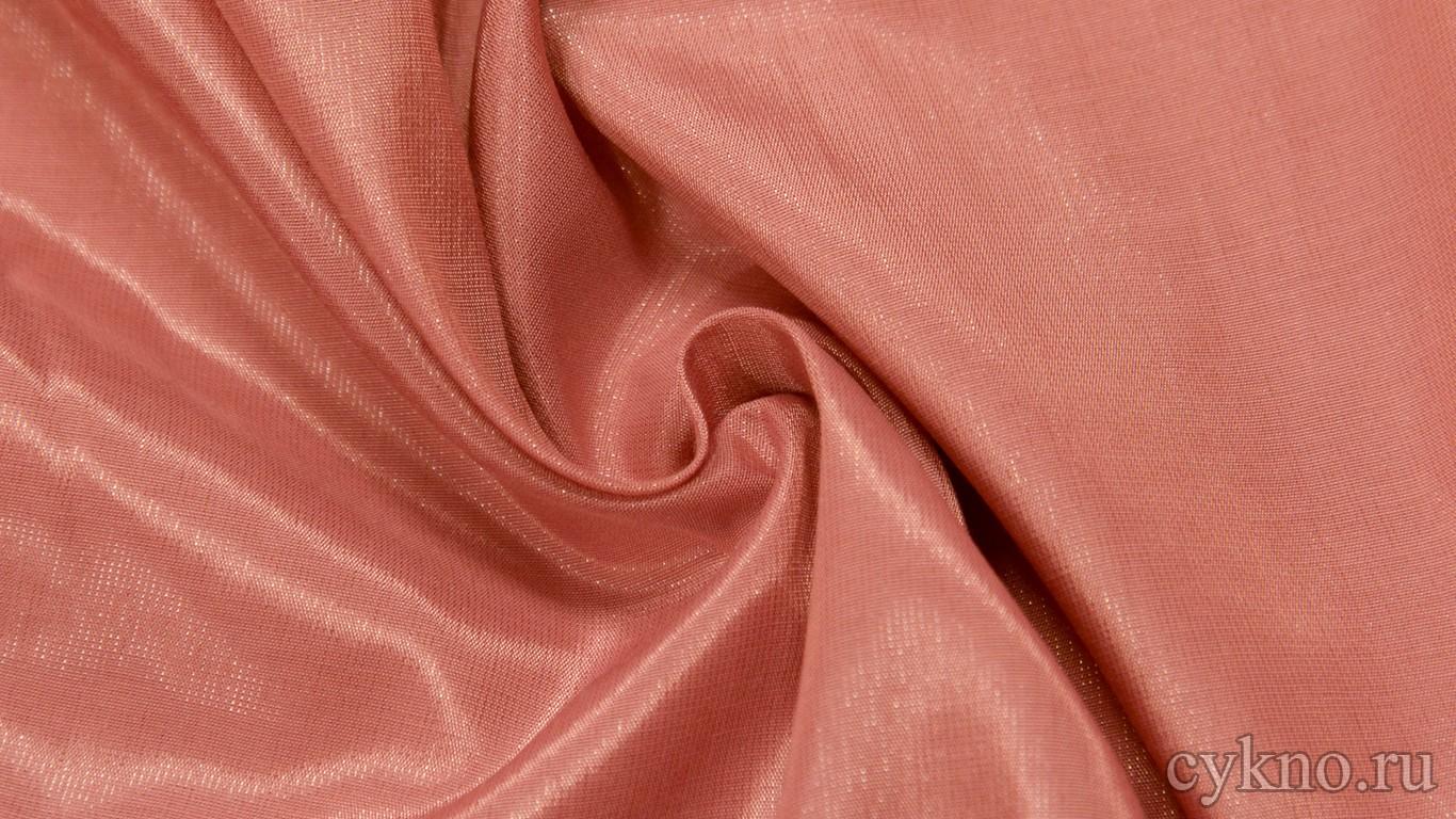 Ткань Плательная вискозная лососевого цвета