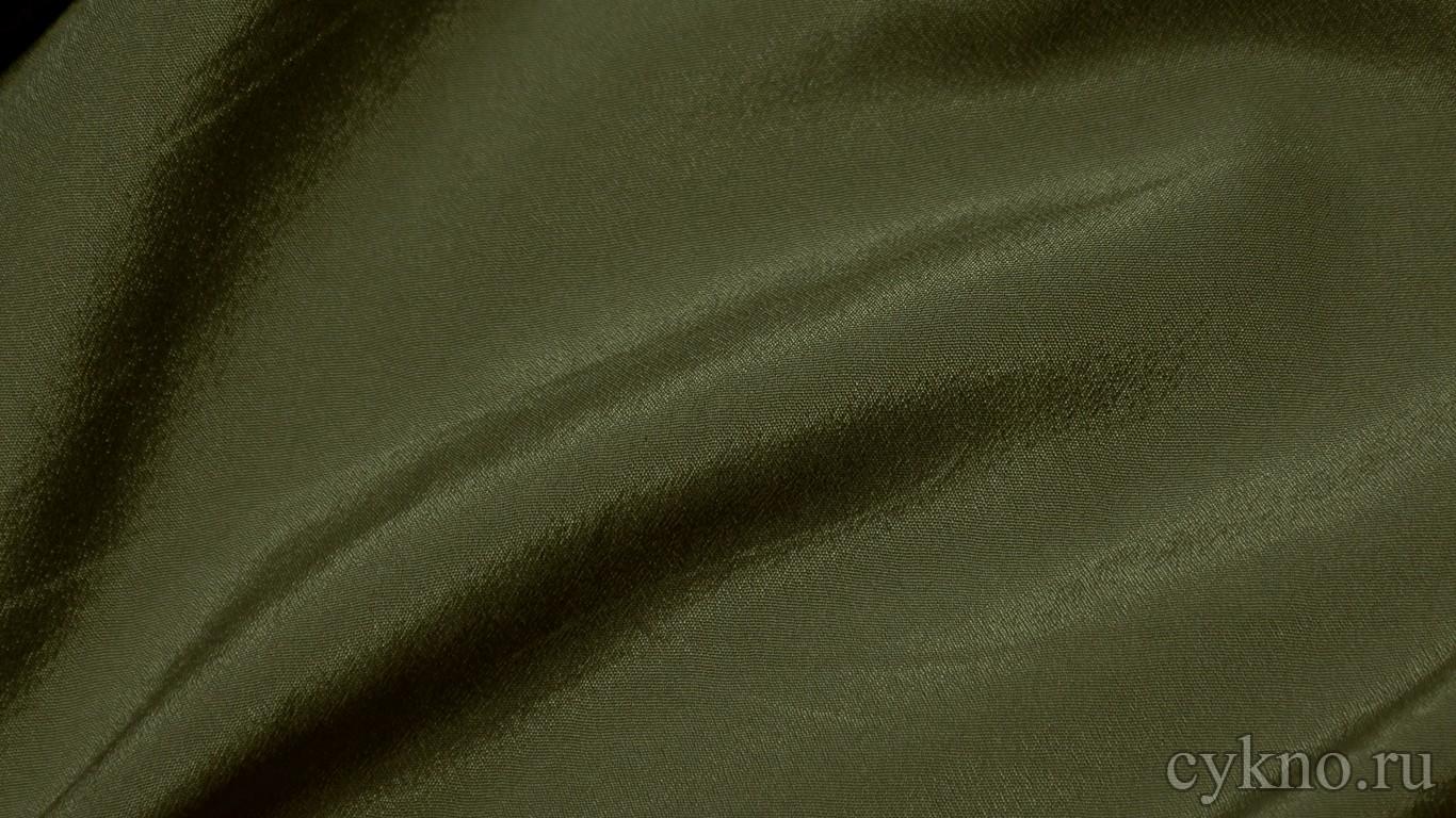 Ткань Плательная темная оливково-зеленая