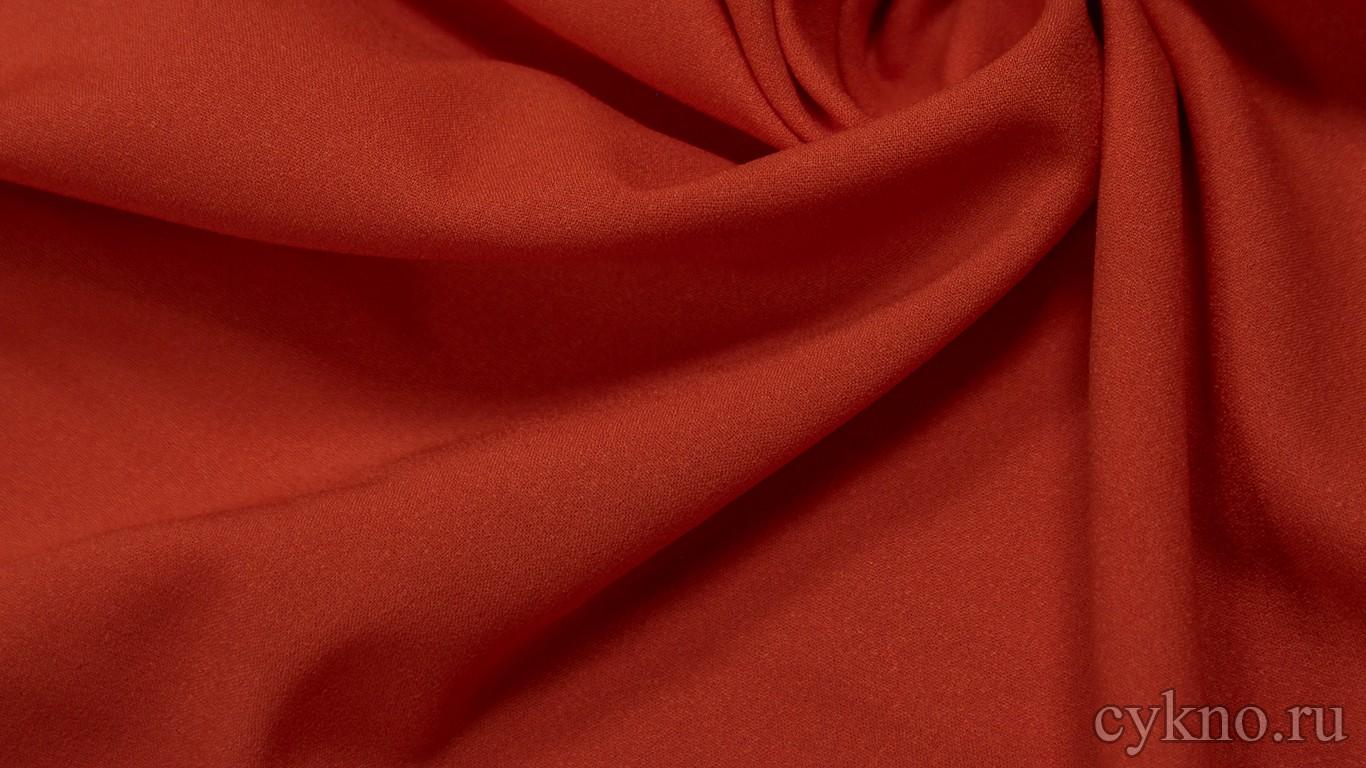 Ткань Плательная томатно-красная