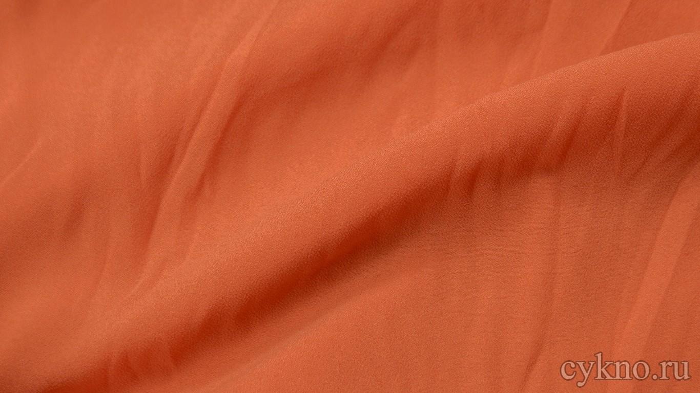 Ткань Плательная перламутрово-оранжевая