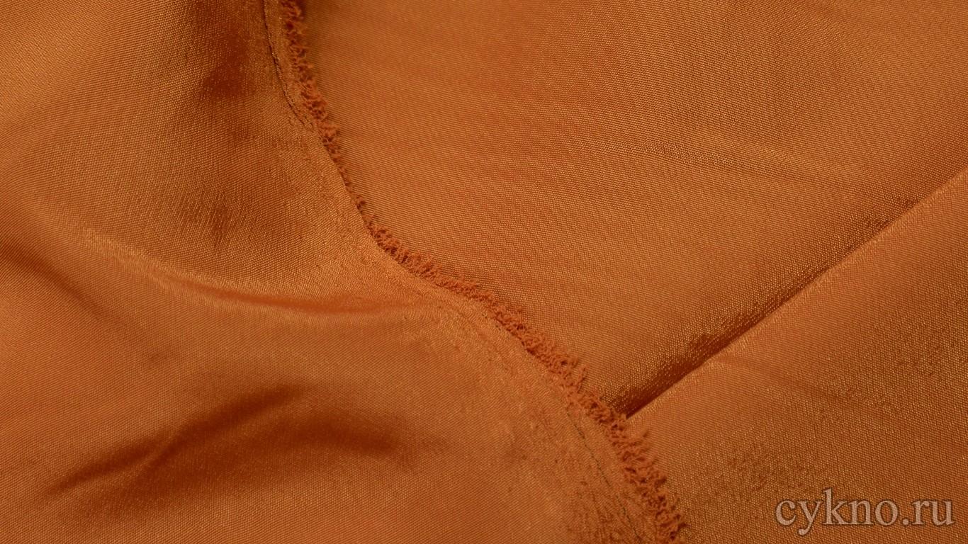 Ткань Плательная коричневато-оранжевая