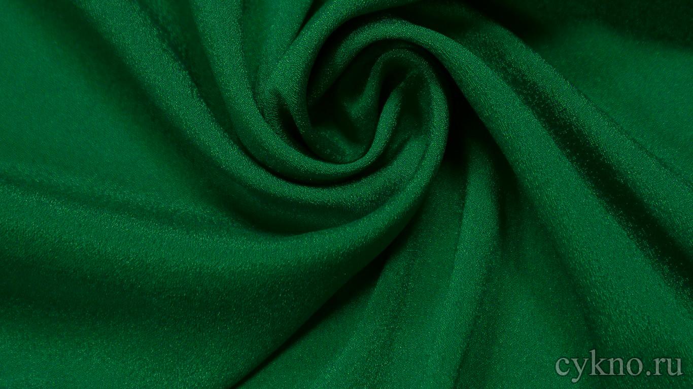 Ткань Плательная насыщенно-зеленая
