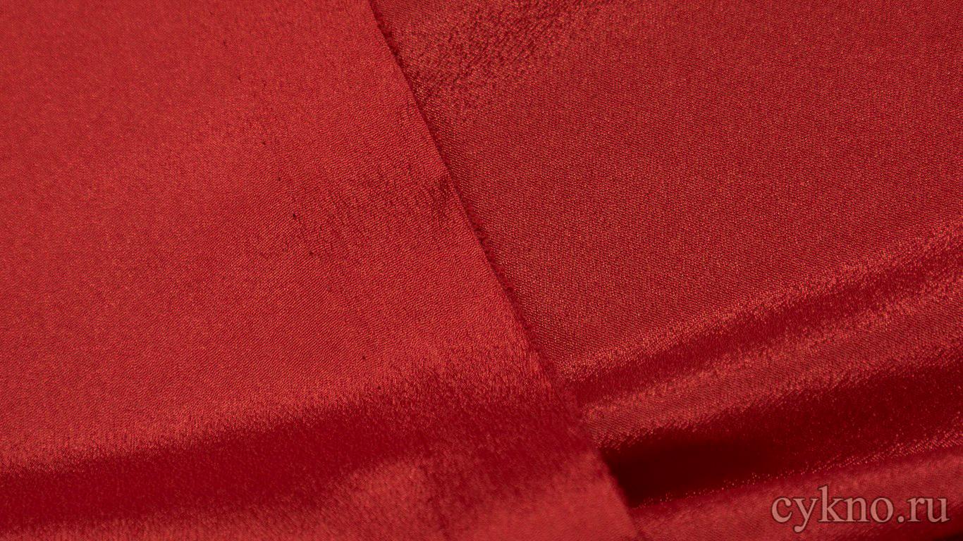Ткань Плательная насыщенно-красная