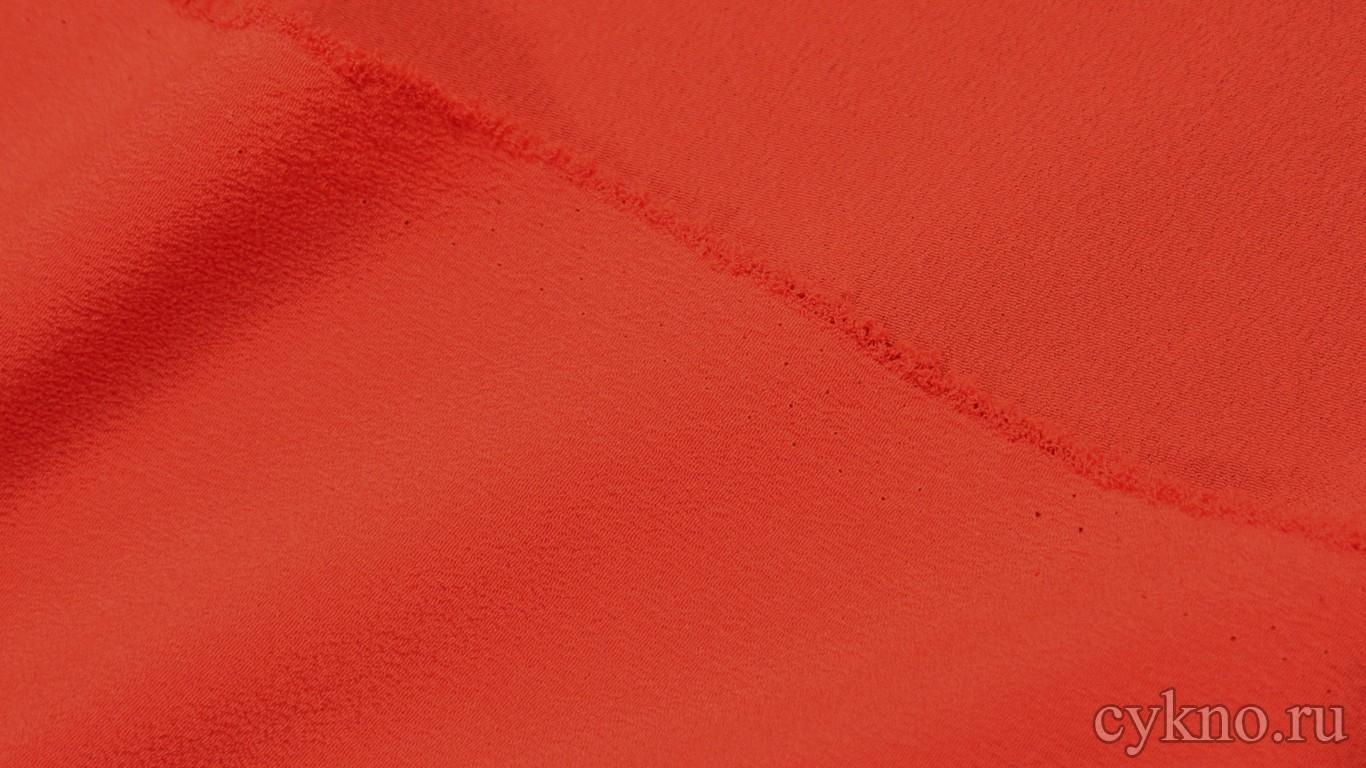 Ткань Плательная красно-оранжевая