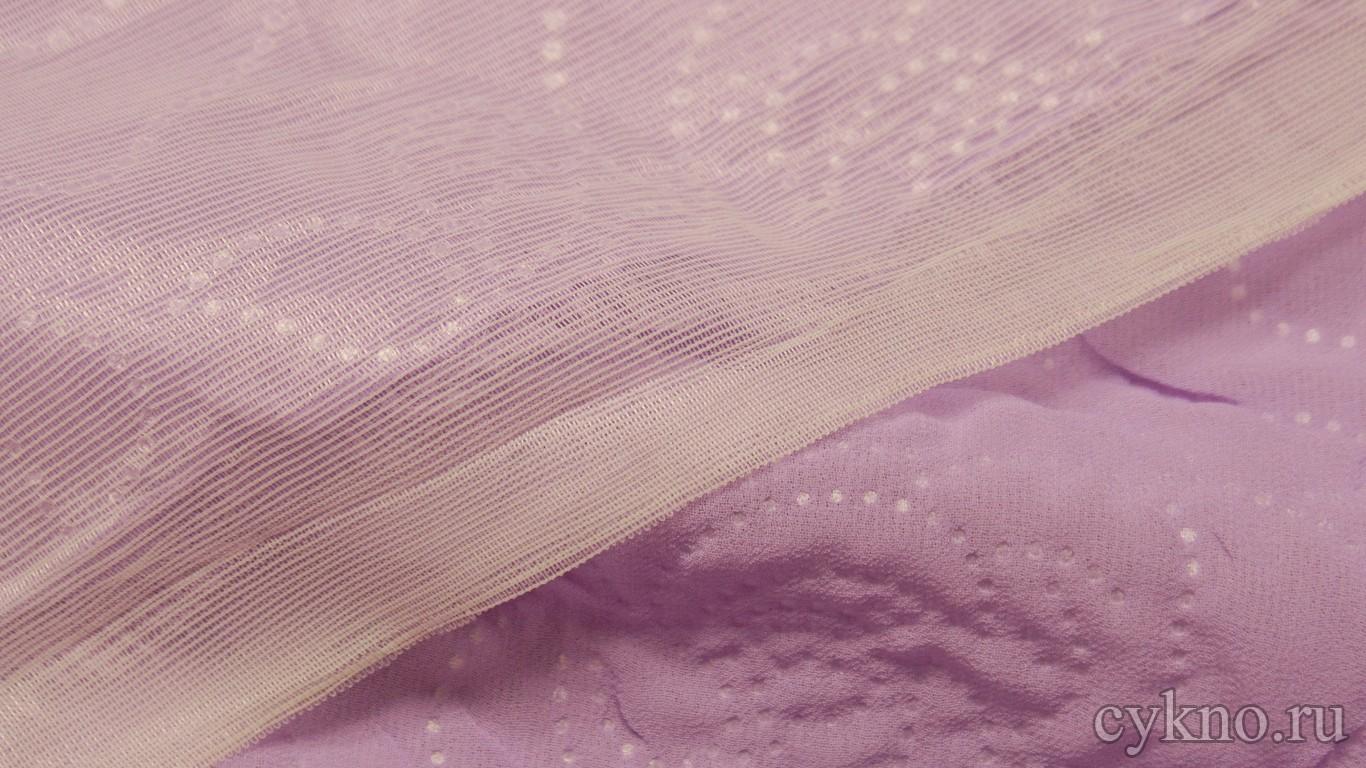 """Ткань Плательная """"Светло-пурпурная роза"""""""
