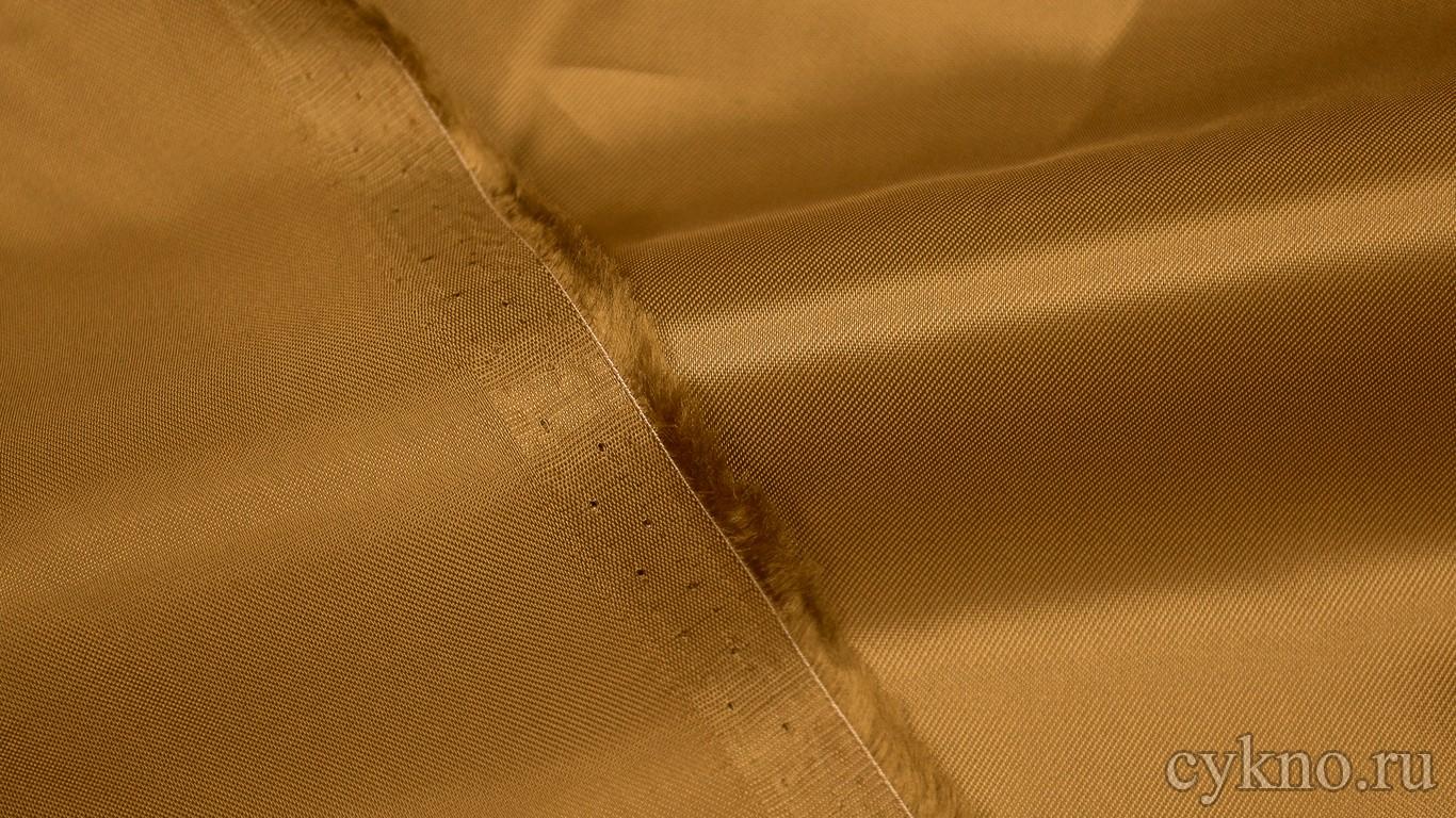Ткань Подкладочная Красное Золото