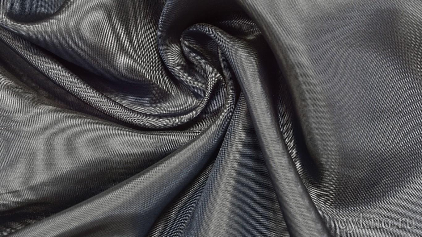 Ткань Подкладочная Серо-синяя