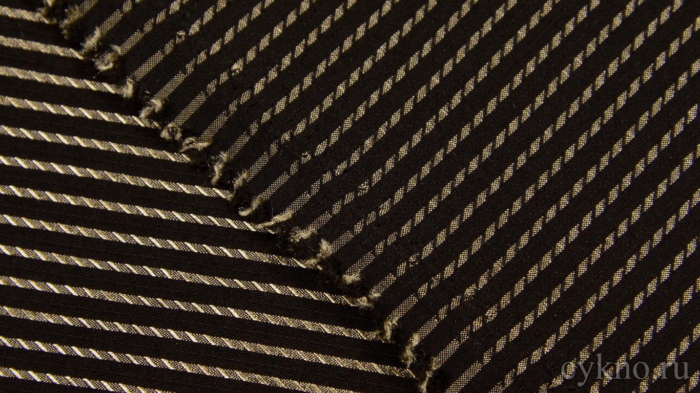 Ткань Рубашечная Черно-золотая
