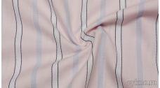 Хлопок Рубашечный розовый в полоску