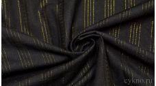 Хлопок Рубашечный золотые полоски на черном