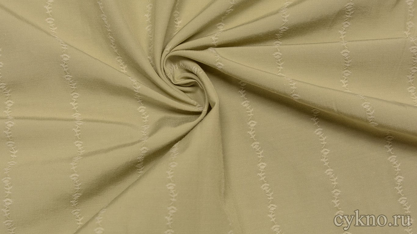 Вискоза Рубашечная песочного цвета с прошитой нитью