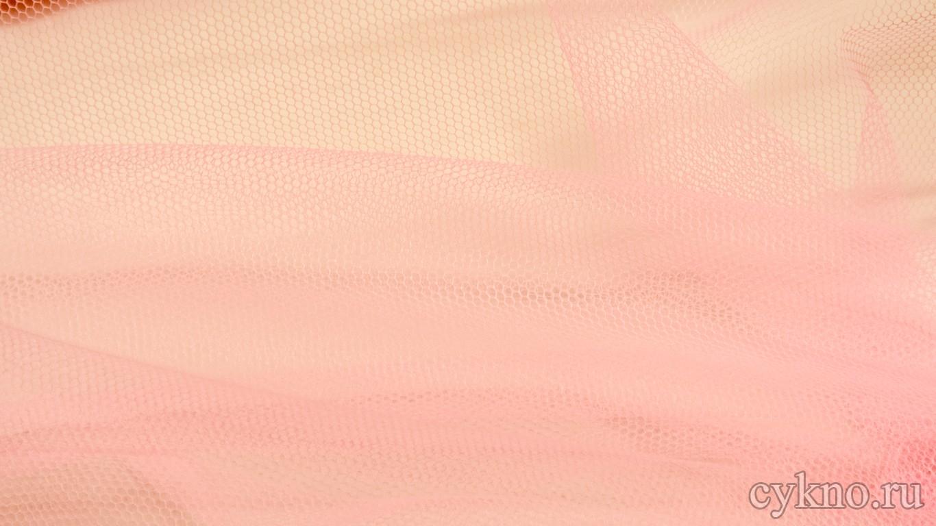 Ткань Фатин Жесткий бледно-розового цвета