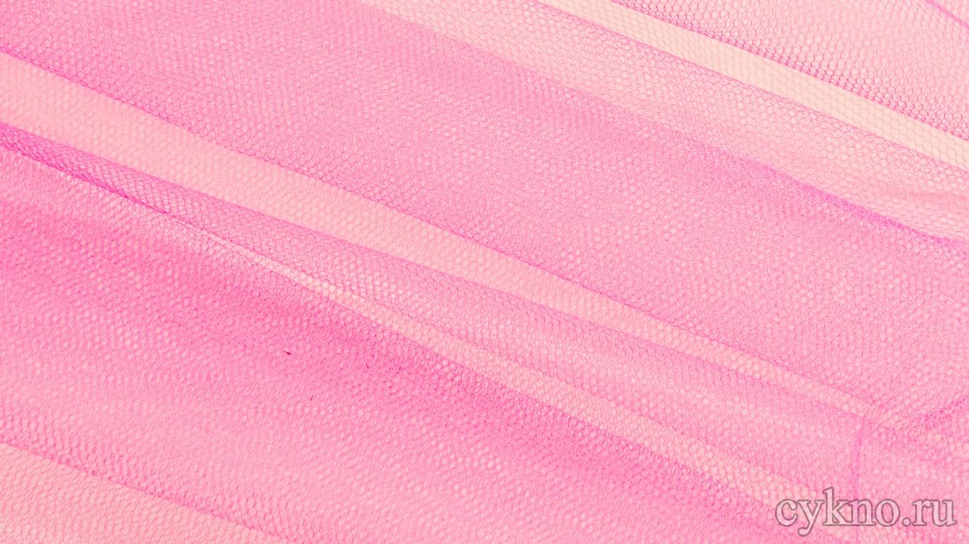 Ткань Фатин Жесткий розового цвета с сиреневым оттенком