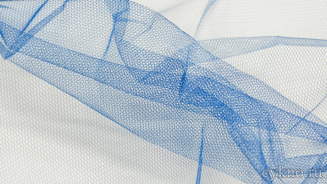Ткань Фатин Жесткий светло-синего цвета
