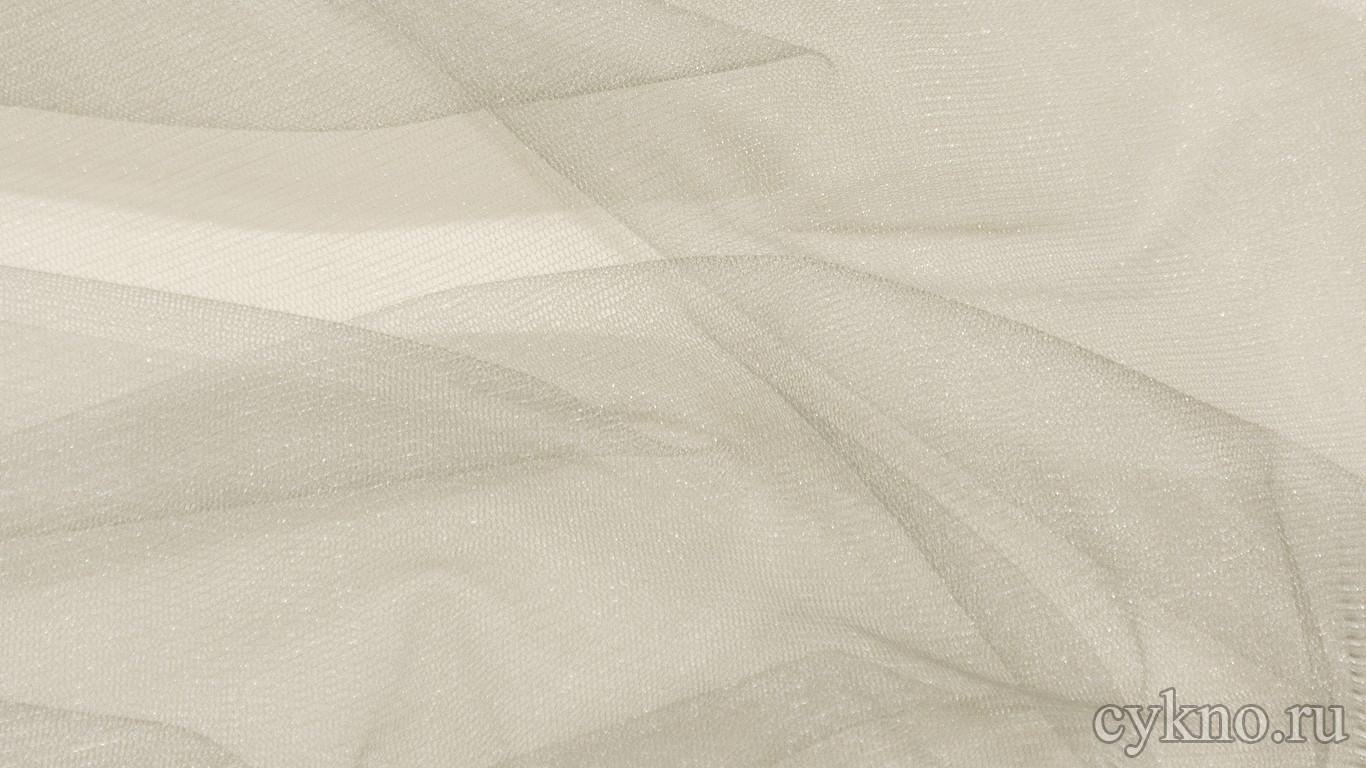 Ткань Фатин Средней Жесткости серого цвета
