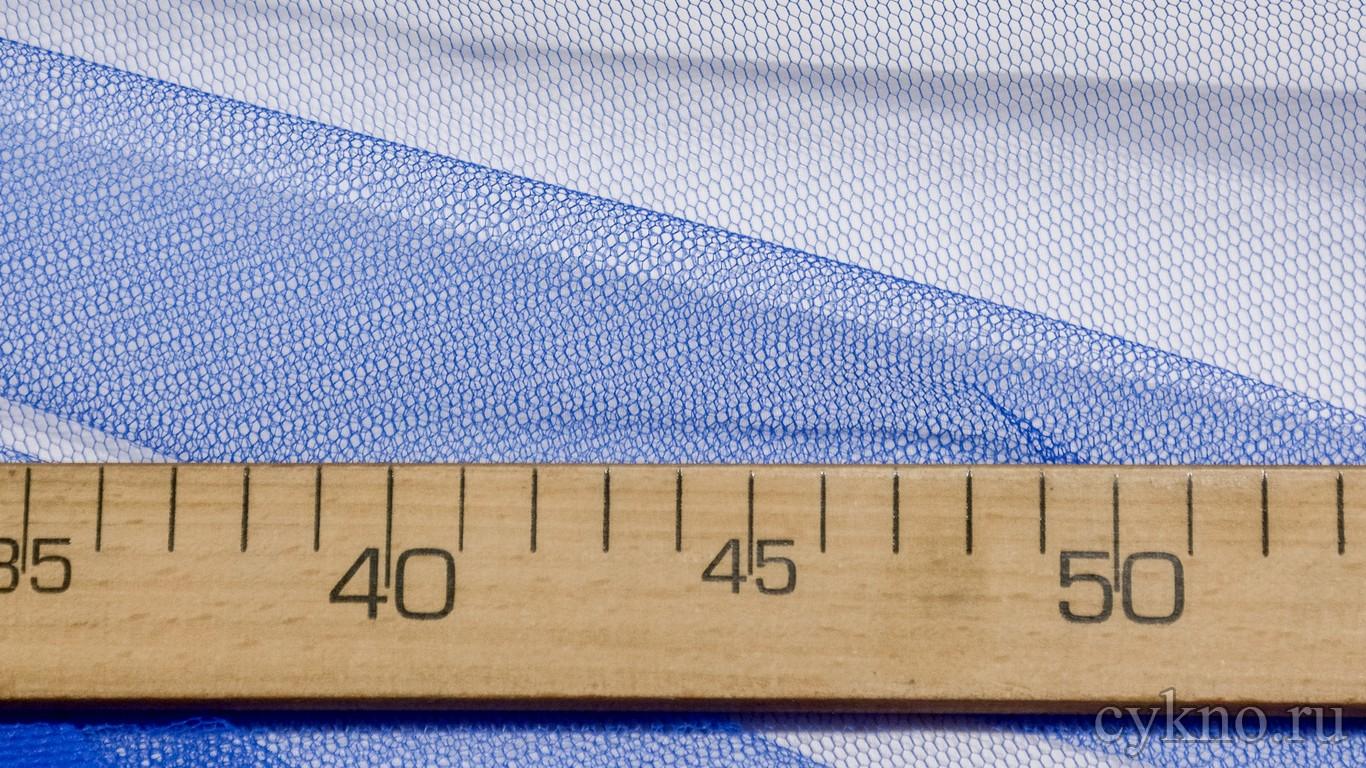 Ткань Фатин Жесткий синего цвета