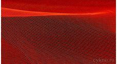 Ткань Фатин Жесткий красный с оранжевым оттенком