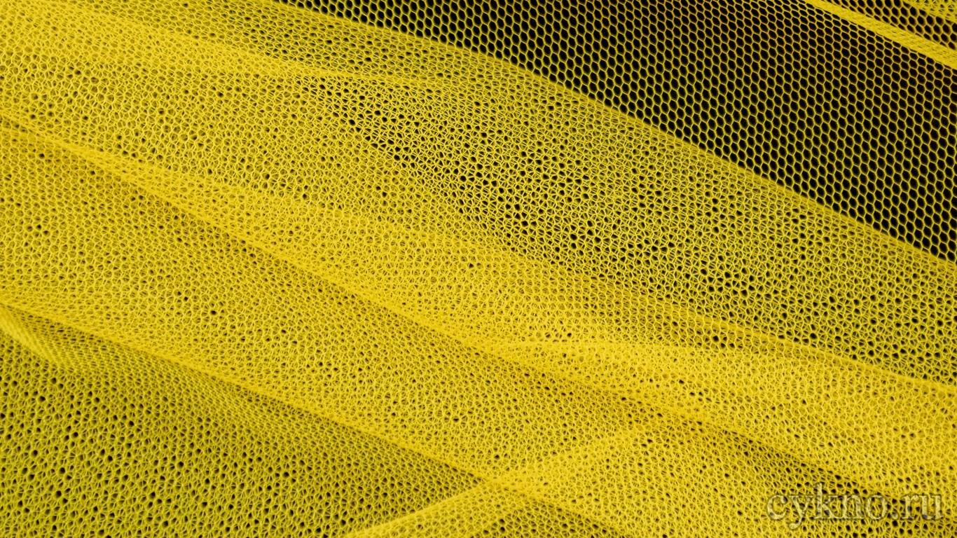 Ткань Фатин Жесткий солнечный желтый