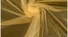 Ткань Фатин Средней Жесткости бежевого цвета