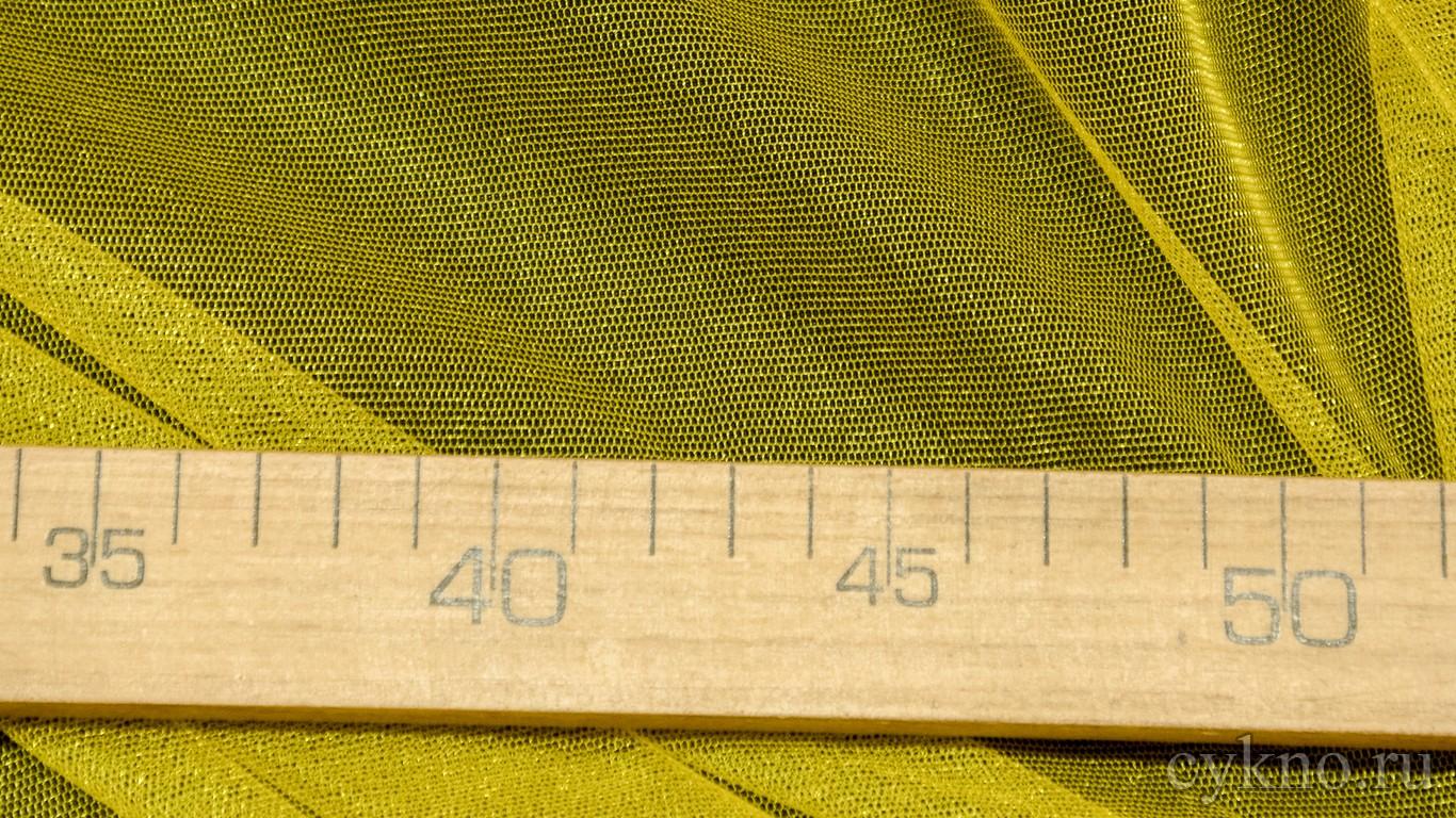 Ткань Фатин Средней Жесткости насыщенно-желтого цвета
