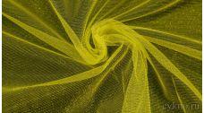 Ткань Фатин Средней Жесткости желто-зеленого цвета