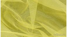 Ткань Фатин Средней Жесткости ярко-желтого цвета