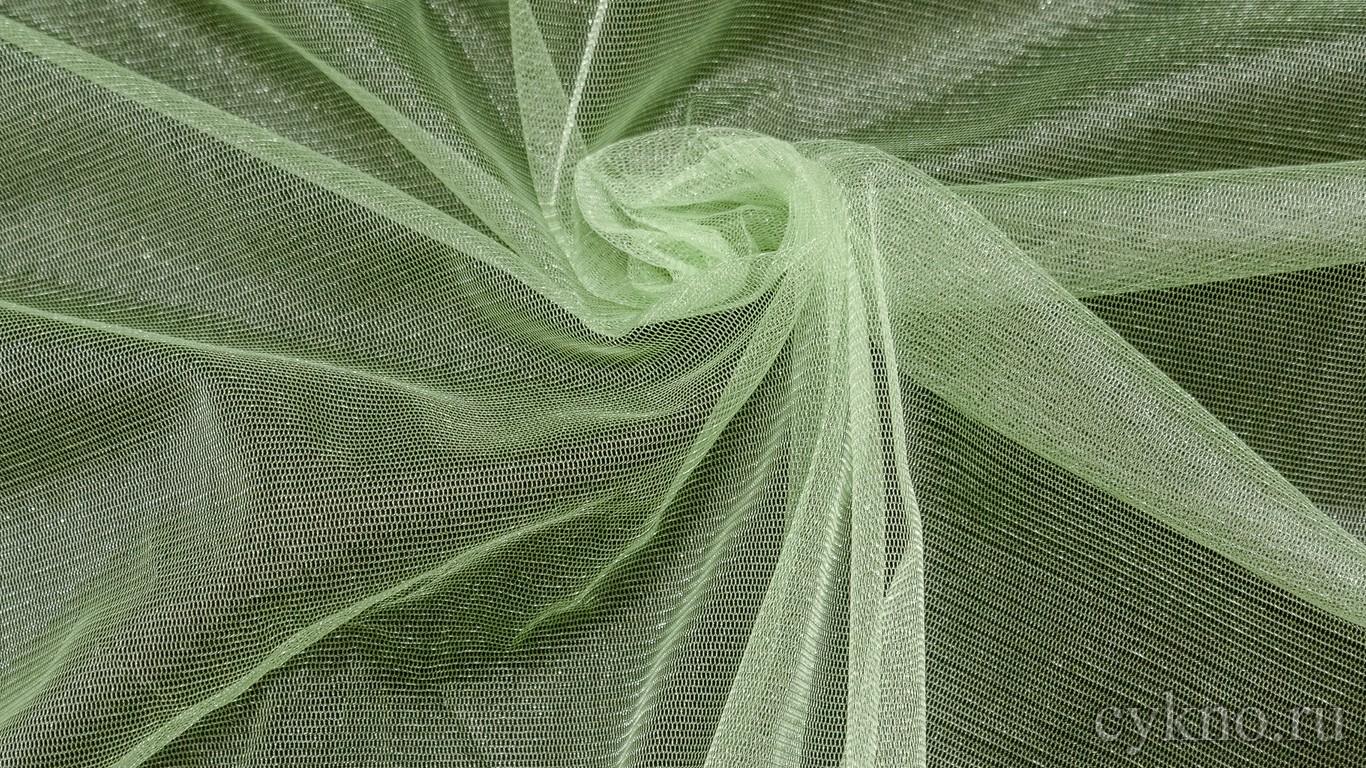 Ткань Фатин Средней Жесткости бледно-зеленый