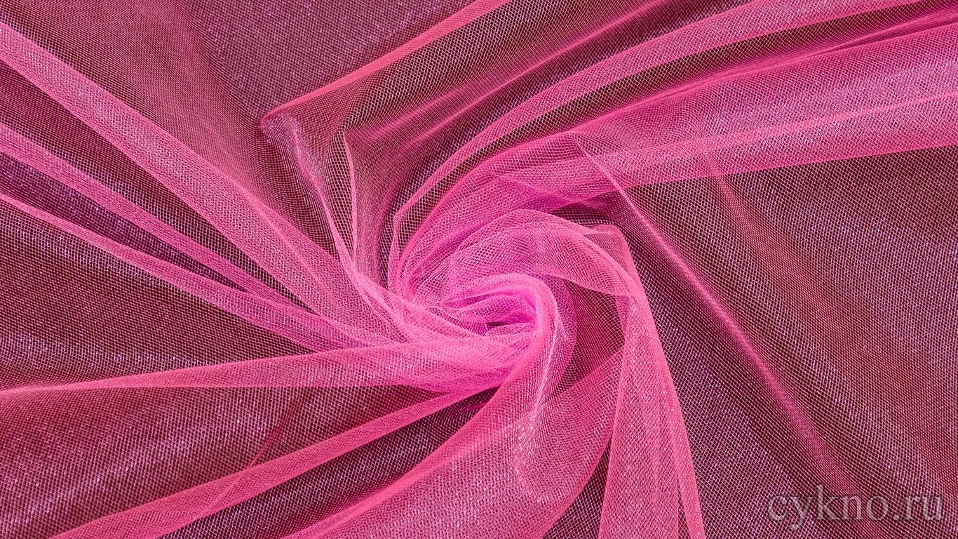 Ткань Фатин Средней Жесткости розовый с малиновым оттенком