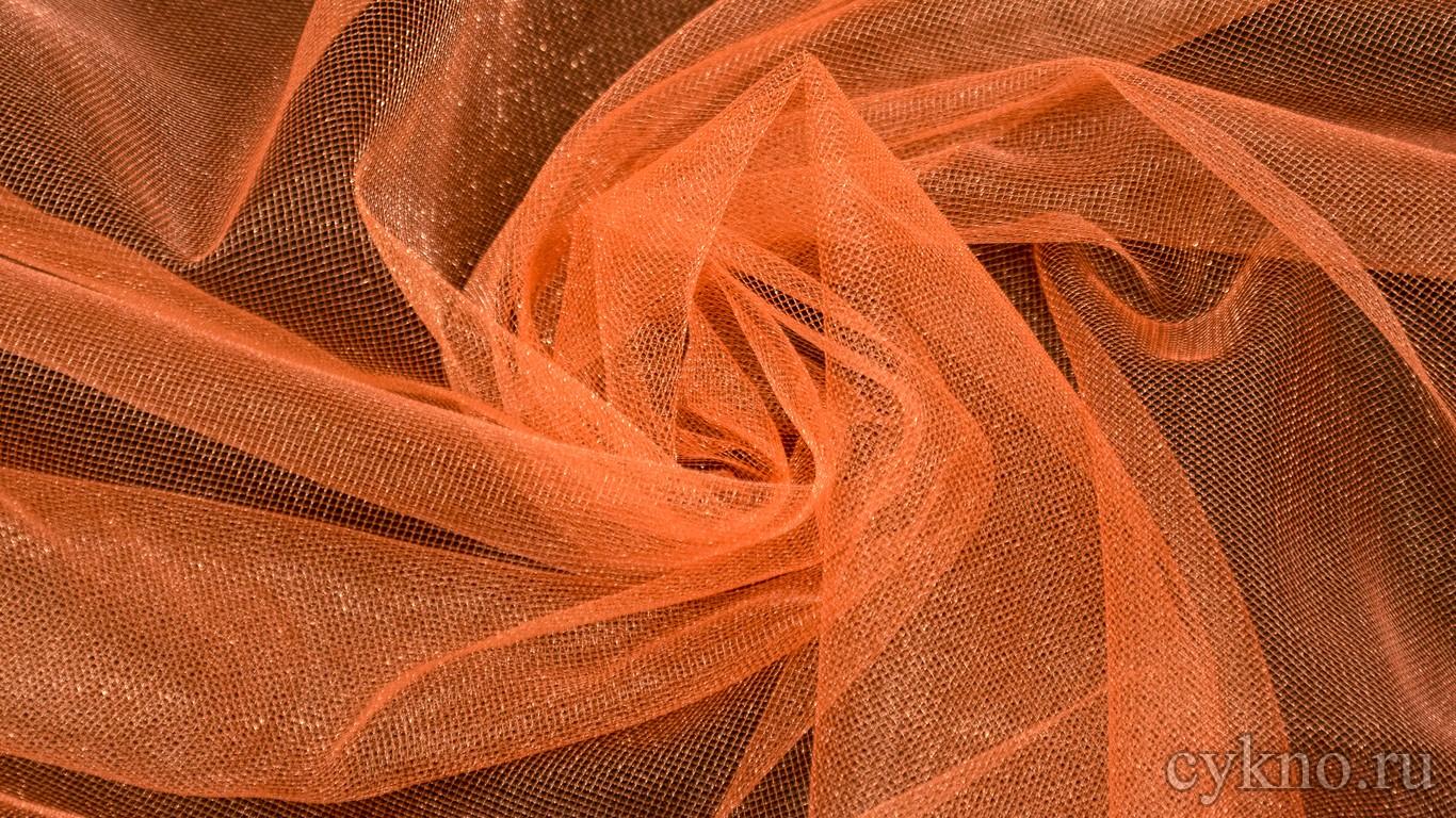 Ткань Фатин Средней Жесткости рыжий