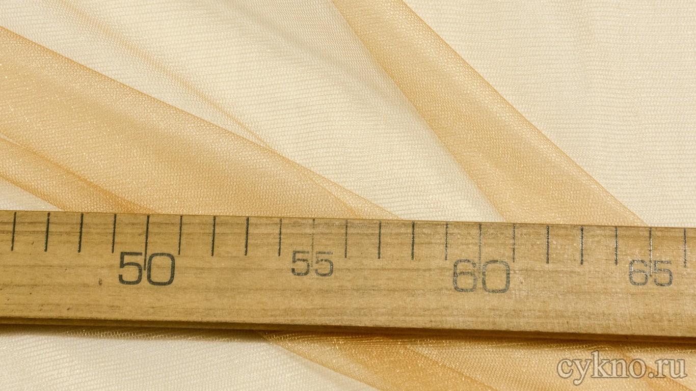 Ткань Фатин Средней Жесткости светло-коричневого цвета