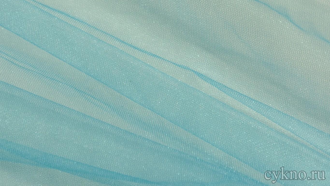 Ткань Фатин Средней Жесткости небесно-голубого цвета