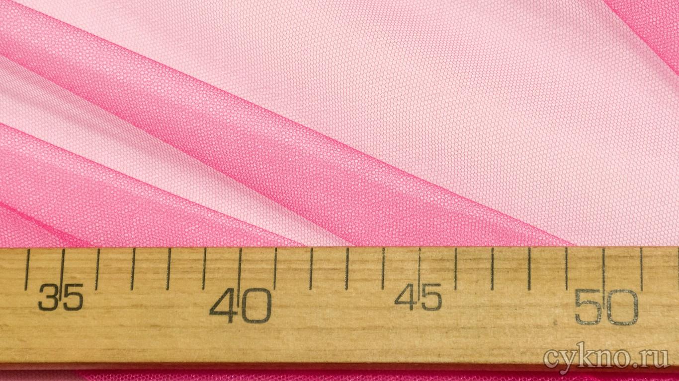 Ткань Фатин Средней Жесткости ярко-розового цвета