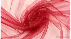 Ткань Фатин Средней Жесткости темный красный